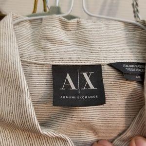 Armani Exchange Geometric Long Sleeve Button Down